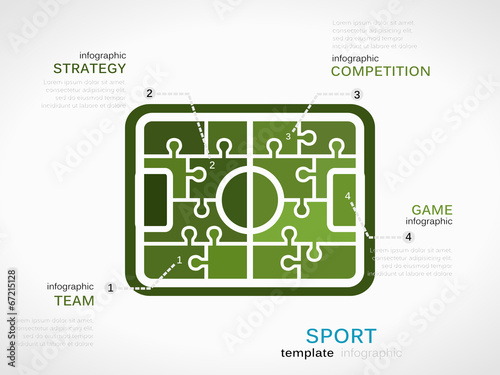 Sport Concept Infographic Template With Soccer Field Buy This