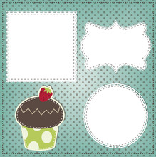 Retro Cupcake Layout, With Vin...
