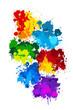 canvas print picture - Farbkleckse