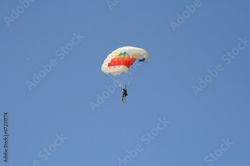Foto op Canvas Luchtsport Skydiver Parachute Open, Sky, Adrenaline