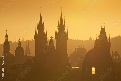 Wall Murals Prague Prague - Spires of the Old Town