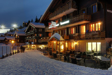 Winter Chalet Hotel In Switzerland