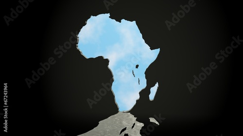Fotobehang Draw african continent as keyhole