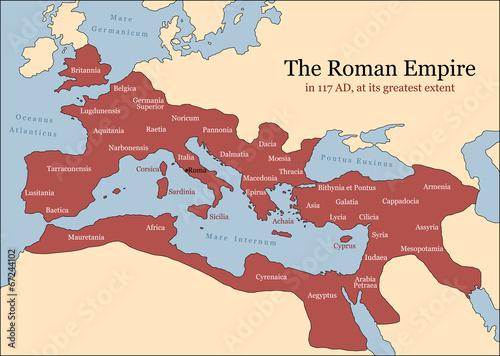 Roman Empire Provinces Wallpaper Mural