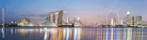 Spoed Foto op Canvas Singapore Singapore skyline