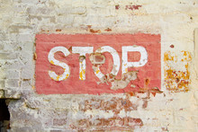 Stop Sign On Wall