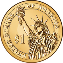 Vector American Gold Coin One ...