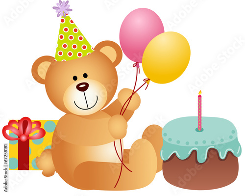 Wall Murals Bears Birthday Teddy Bear