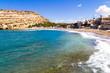 Panoramic view of Matala beach south Crete