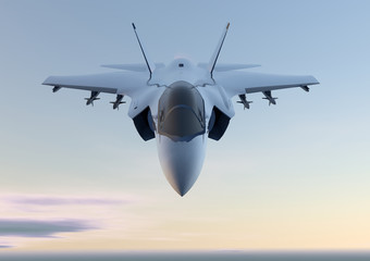 Fototapeta Militaria Jet F-35 aereo caccia militare
