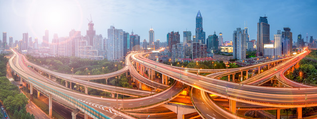 Fototapeta Shanghai Verkehr