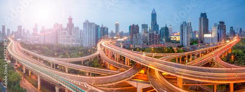 Fotomural  Shanghai Verkehr