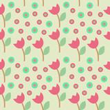 Flower Circle Seamleaa Pattern