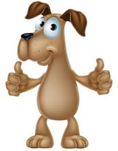 Dog Cartoon Giving Thumbs Up