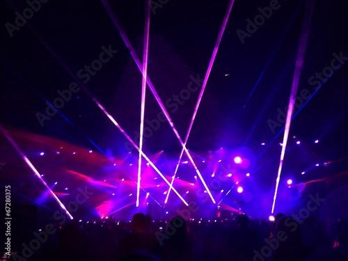 Fotografía  laser show