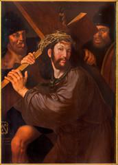Fototapeta Do kościoła Bruges - Christ under the cross paint in st. Jacobs church