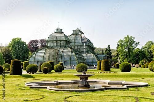 Garden Poster Vienna Botanical garden in Schonbrunn Palace in Vienna