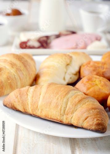 Deurstickers Bakkerij Croissants time