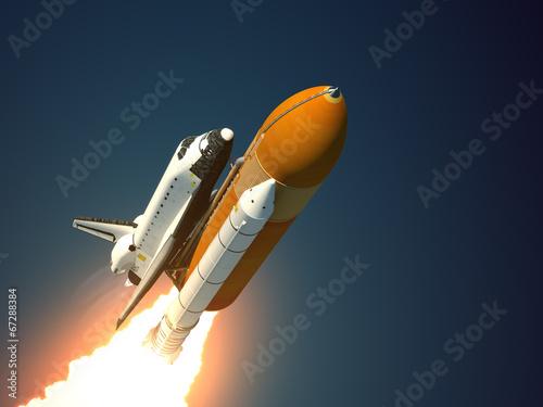 Fototapeta Space Shuttle Takes Off obraz na płótnie