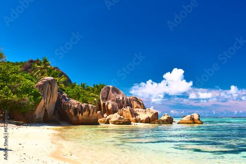 Fotografie, Obraz  Beautiful beach at Seychelles