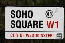 Soho Square Street Sign