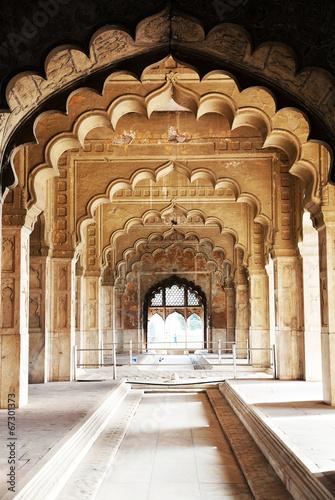 Stickers pour portes Delhi Architectural of Lal Qila - Red Fort in Delhi, India, Asia