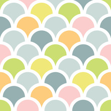 Abstract Colorful Fishscale Se...