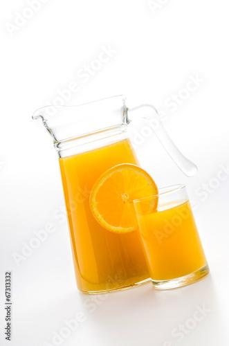 Poster Sap Orange juice glass