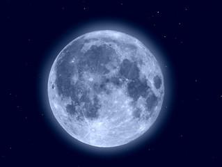 Fototapeta Księżyc z gwiazdami