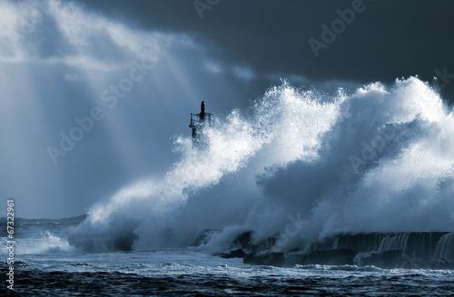 Foto auf Gartenposter Wasser Atlantic storm