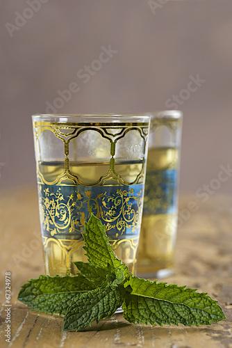 Thé Marocain  à la menthe Fototapeta