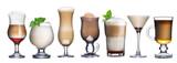 Fototapeta Kawa - Coffee cocktails collection