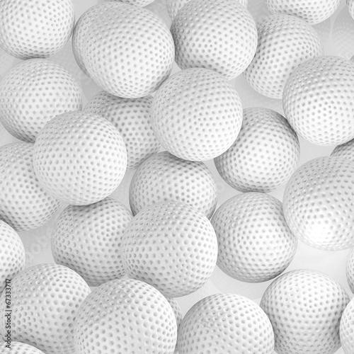 pilki-golfowe-3d-render