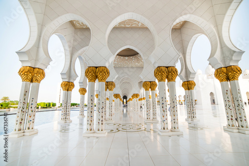Spoed Foto op Canvas Abu Dhabi Sheikh Zayed Grand Mosque