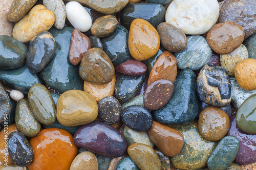 Colorful of River Rock