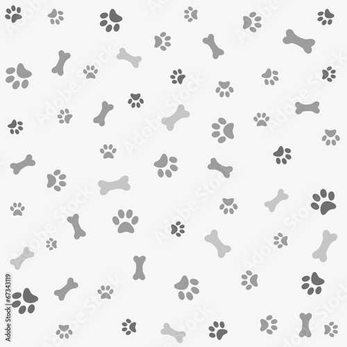Photo Background with dog paw print and bone
