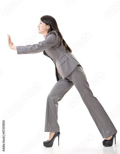 Fotografía  business woman push