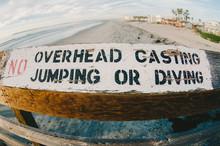 California Pier Warning Sign- ...