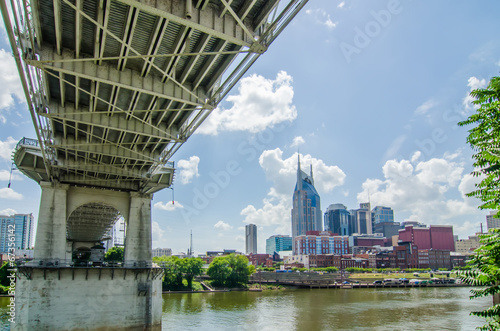 Spoed Foto op Canvas Singapore Nashville, Tennessee downtown skyline and streets