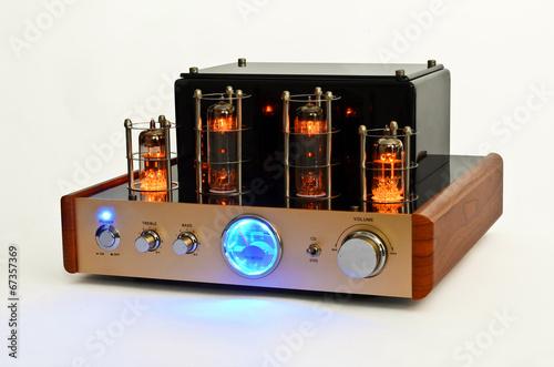 Retro Style Valve Amplifier - Buy this stock photo and explore