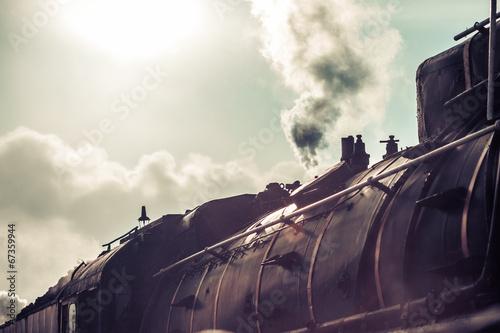 Fototapeta The steam train obraz