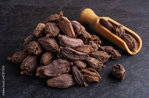 Black cardamom pods Wallpaper Mural