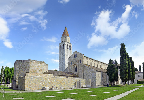 Photo Baptistery, Basilica and bell tower of Aquileia, Italy. UNESCO