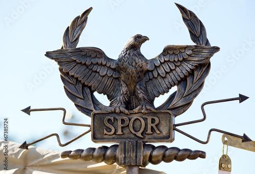 Poster Aigle SPQR eagle scepter