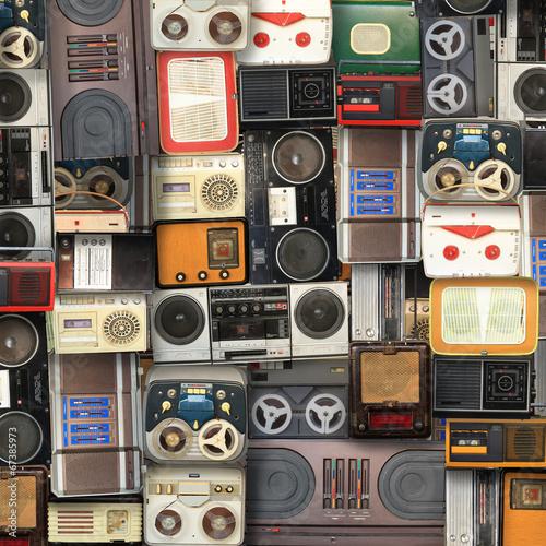 Obraz Kolaż muzyki, koloru i jasnego tła muzycznego - fototapety do salonu