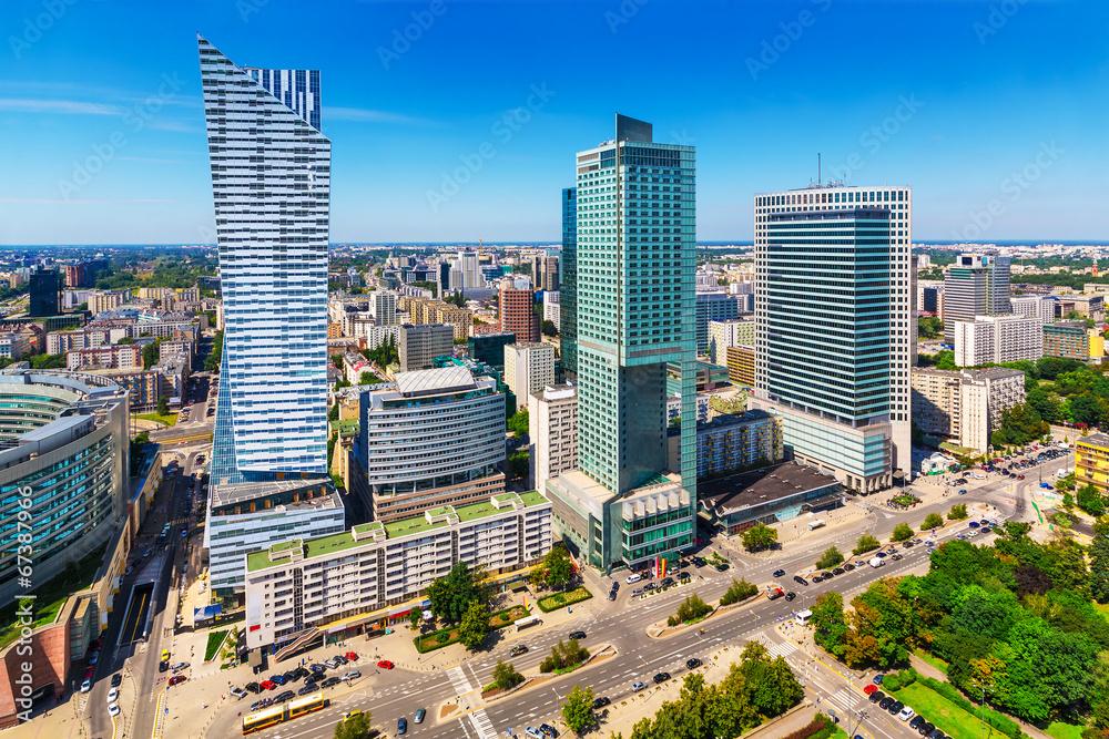 Fototapety, obrazy: Dzielnica biznesowa w Warszawie
