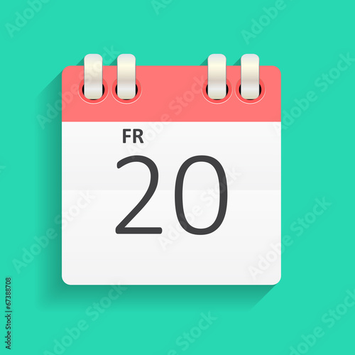 Fényképezés  Flat Calendar Icon Vector Illustration