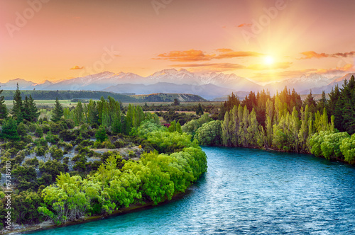 Obraz Clutha river - fototapety do salonu