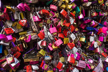Many Colored Locks Of Love In The Gate Of The House Of Romeo And