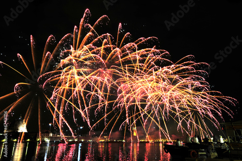 Fotografie, Obraz  Fireworks on the sea